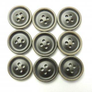 ビンテージ風こげ茶色系ボタン/15mm/4穴/ジャケット袖口・カーディガンに最適
