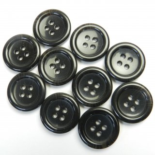 黒色系の水牛調ボタン/20mm/4穴/スーツやジャケットに最適
