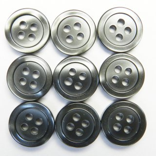 グレー系の貝調ボタン/11.5mm/4穴/シャツ・ブラウスに最適