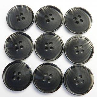黒色系の水牛調ボタン/18mm/4穴/コート袖口・カーディガンに最適