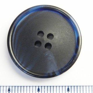 大型のネイビー水牛調ボタン/25mm/4穴/コートに最適