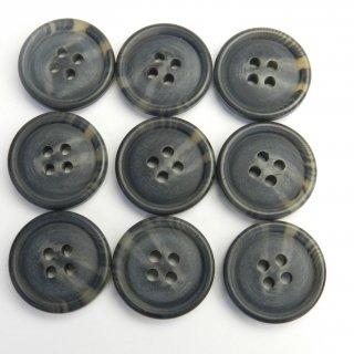 ツヤなしグレー系の水牛調ボタン/20mm/4穴/スーツやジャケットに最適