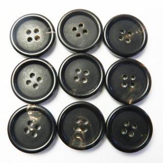 こげ茶色系水牛ボタン/20mm/4穴/ジャケットやスーツ上着に最適