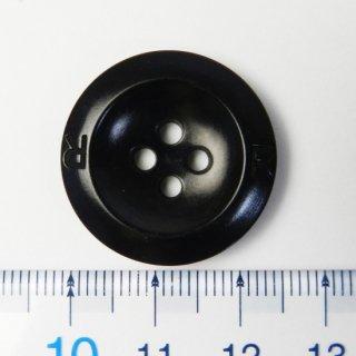 黒色ナットボタン/25mm/4穴/コートに最適