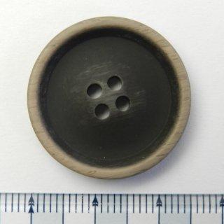 大きいサイズのビンテージ風こげ茶色系ボタン/25mm/4穴/コートに最適