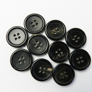 黒色系水牛ボタン/20mm/4穴/スーツやジャケットに最適