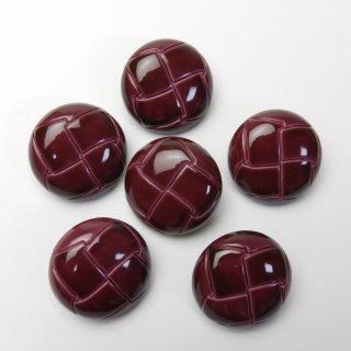 赤紫色系の皮革調ボタン/23mm/足つき/コートに最適