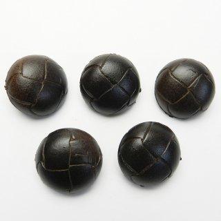 茶色系の皮革調ボタン/23mm/足つき/コートに最適