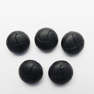 黒色系の皮革調ボタン/19mm/足つき/カーディガンやコートに最適