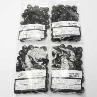 [615個入]茶色系ナット調ボタン まとめてお得な4種類詰め合わせ/13.5mm/4穴/カジュアルシャツやカーディガンに最適