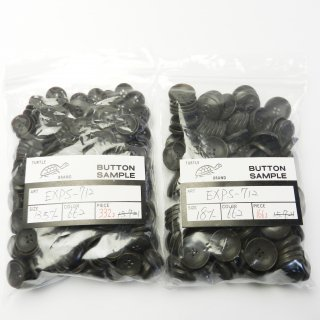 [498個入]ナット調こげ茶色系ボタン まとめてお得な2サイズ詰め合わせ/13.5・18mm/4穴/カーディガンなどに最適