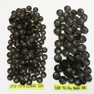 [333個入]茶色系のナット調ボタン まとめてお得な2サイズ詰め合わせ/13.5・18mm/4穴/カーディガンなどに最適