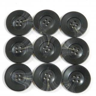 黒色系の水牛調ボタン/23mm/4穴/コートのフロントボタンに最適