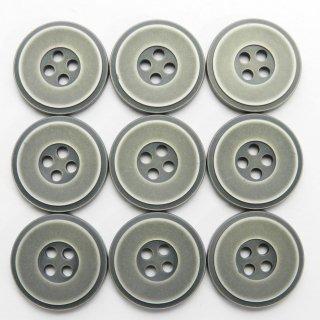 メタル調のアンティークシルバー色系プラスチックボタン/20mm/4穴/ジャケットなどに最適