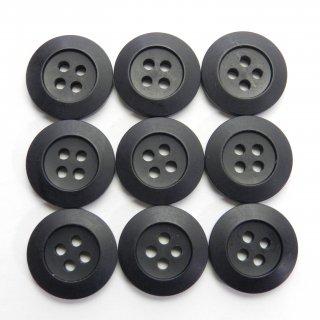 太縁の黒色ボタン/18mm/4穴/コート袖口やカーディガンに最適