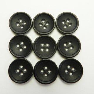 大きいサイズ黒色系タヌキ穴のプラスチックボタン/23mm/4穴/スーツやジャケットに最適