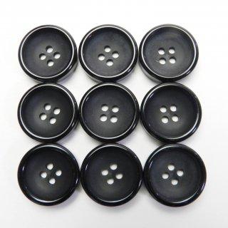 黒色プラスチックボタン/20mm/4穴/ジャケットやスーツ・上着・カーディガンに最適