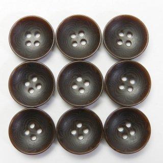 茶色系ナット調ボタン/13.5mm/4穴/カジュルシャツやカーディガン、ニットに最適