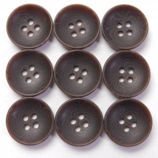 半ツヤの茶色系ナット調ボタン/13.5mm/4穴/カジュルシャツやカーディガン、ニットに最適