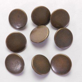 ツヤ消しのアンティークゴールド系メタルボタン/21mm/足つき/ハンドメイド雑貨やジャケットに最適