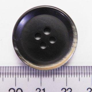 焼き加工の模様入り茶色系大型ボタン/25mm/4穴/コートやハンドメイドに最適