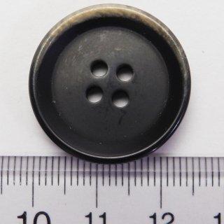 焼き加工の模様入り黒色系大型ボタン/25mm/4穴/コートやハンドメイド、ニットに最適