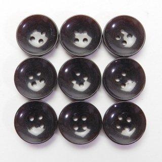 ツヤありこげ茶色系ナット調ボタン/13.5mm/4穴/カジュルシャツやカーディガン、ニットに最適