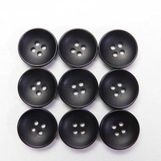 半ツヤ黒色ボタン/13.5mm/4穴/カジュルシャツやカーディガン、ニットに最適