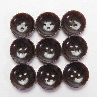 半ツヤ茶色系ナット調ボタン/13.5mm/4穴/カジュルシャツやカーディガン、ニットに最適