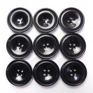 黒色プラスチックボタン/20mm/4穴/ジャケット・上着・手芸に最適