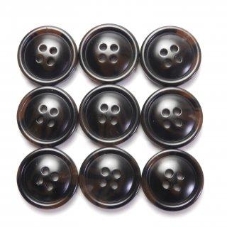 茶色系の水牛調ボタン/20mm/4穴/スーツの上着やジャケット、ニットなどに最適