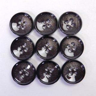 貝調クリア加工の茶色系ボタン/14mm/4穴/ジャケットや上着の袖口・ニット・手芸に最適