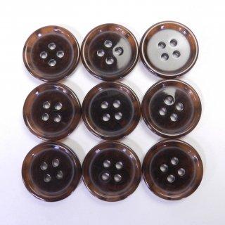 模様入り茶色系ボタン/20mm/4穴/スーツ上着やジャケット、カーディガン、ニット、手芸に最適