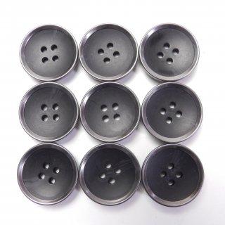 大型の水牛調黒色系組み合わせボタン/21mm/4穴/上着、ジャケット、ニット、ハンドメイドに最適