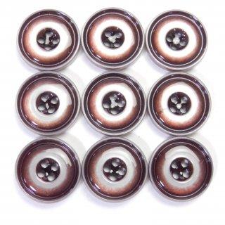 ワイン色系のプラスチックボタン/15mm/4穴/上着やジャケット袖口・カーディガン・手芸に最適