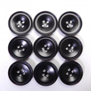 黒色プラスチックボタン/19mm/4穴/ジャケット・上着・手芸に最適