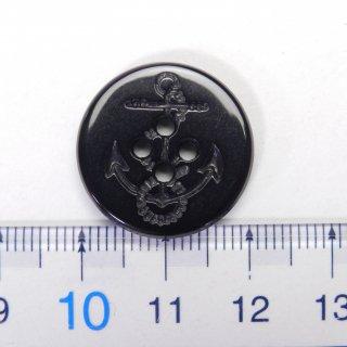 黒色イカリボタン/21mm/4穴/上着やジャケット、カーディガン、ニット、手芸に最適