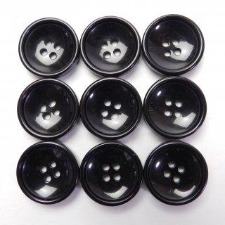 黒色プラスチックボタン/20mm/4穴/ジャケット・上着・カーディガン・手芸に最適