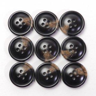 こげ茶色系の水牛調ボタン/20mm/4穴/スーツの上着やジャケット、ニットなどに最適