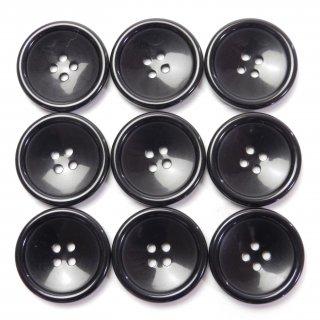 ツヤのある黒色ボタン/20mm/4穴/ジャケット・上着・手芸に最適
