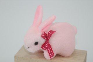 うさぎのストラップ(ピンク・ホワイト)