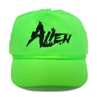 A.L.I.E.N. NEON GREEN LOGO SNAP CAP