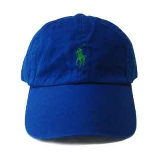 POLO RALPH LAUREN 6 PANEL CAP ROYAL GREEN