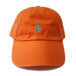 POLO RALPH LAUREN 6 PANEL CAP OGANGE TUQ