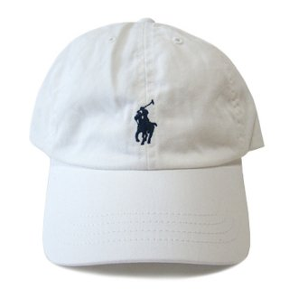 POLO RALPH LAUREN 6 PANEL CAP WHITE NAVY