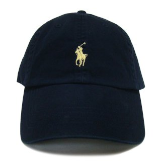 POLO RALPH LAUREN 6 PANEL CAP NAVY YELLOW