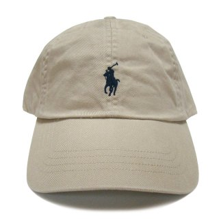POLO RALPH LAUREN 6 PANEL CAP BEIGE NAVY