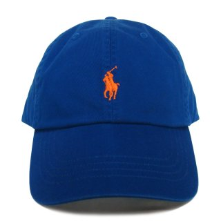 POLO RALPH LAUREN 6 PANEL CAP ROYAL ORANGE