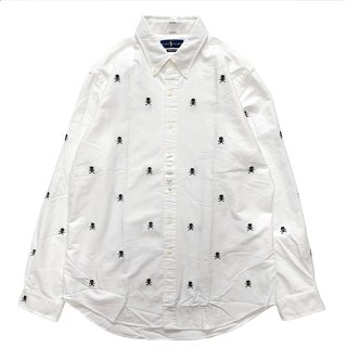 POLO RALPH LAUREN SKULL L/S SHIRTS WHITE