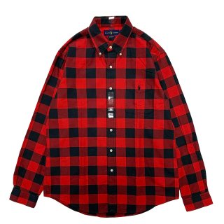 POLO RALPH LAUREN CHECK L/S SHIRTS RED BLACK